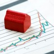 Upwards Housing Graph - Stock Photo