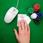 Online Poker — Stock Photo