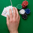 Online Poker — Stock Photo