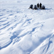 Stock Photo: Snowmobile Expedition
