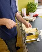 Pasta Making Detail — Stock Photo