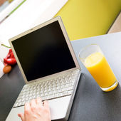 Healthy On Computer — Stock Photo