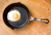 Fried Egg from Above — Stock Photo
