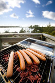 Hotdog BBQ — Stock Photo