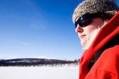 Woman Mountain Adventure — Stock Photo