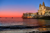 St. Julians Bay - Malta — Stock Photo