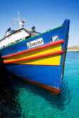 Comino Island Boat — Stock Photo