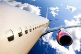 Airplane in Flight — Stock Photo