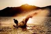Water Ski Silhouette — Stock Photo