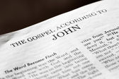 Gospel According to John — Stock Photo