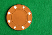 Orange Poker Chip — Stock Photo