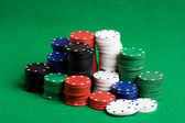 Poker Chips Stack — Stock Photo