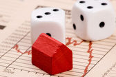 Housing Market Risk — Stockfoto