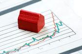 Upwards Housing Graph — Stock Photo