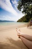 Tropik rahatlatıcı — Stok fotoğraf