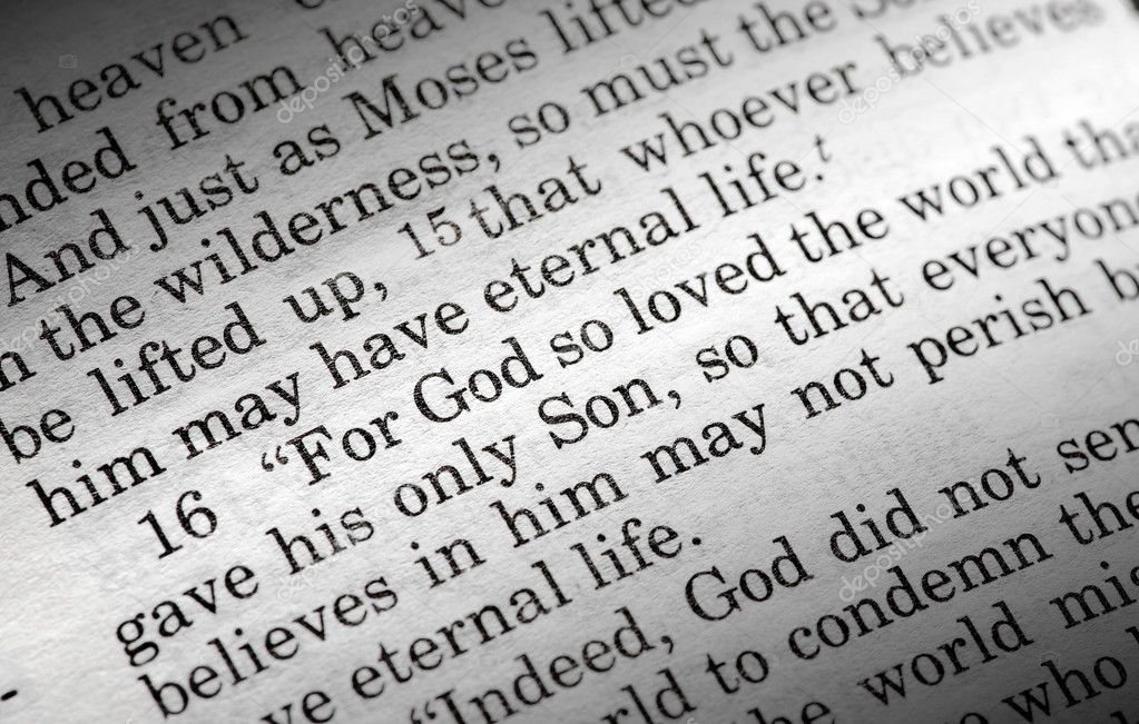 John 3:16 in the Christian Bible, For God so loved the world... — Foto Stock #5686689