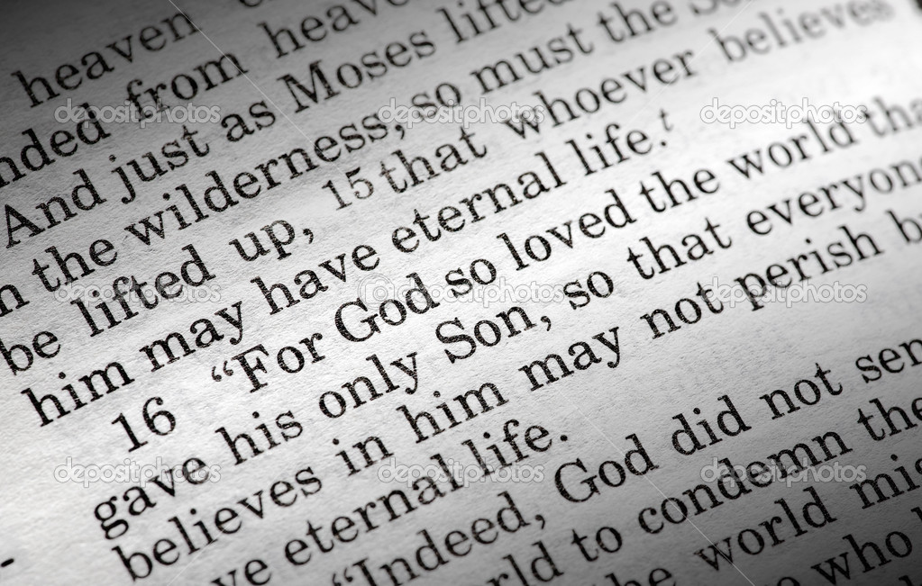 John 3:16 in the Christian Bible, For God so loved the world... — Stock fotografie #5686689