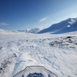 Snowmobile Winter Landscape — Stock Photo #5690377
