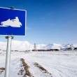 Snowmobile Sign — Stock Photo