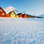 Longyearbyen Sunset — Stock Photo