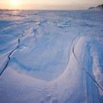 Kış günbatımı manzarası — Stok fotoğraf