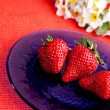 Natural Strawberries — Stock Photo