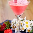 Strawberry Ice Cream Smoothie — Stock Photo