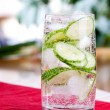 Sparkling Cucumber Water - Stock Photo