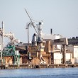Industrial Shipping Dock — Stock Photo