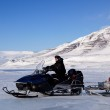 Snowmobile expedition — Stockfoto