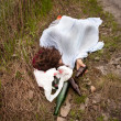 Sleeping in Ditch — Stock Photo