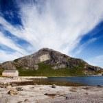 Mountain Norway Coast — Stock Photo