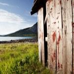 Łódź dom Norwegia — Zdjęcie stockowe