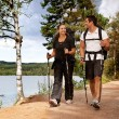 Backpac Couple - Stockfoto