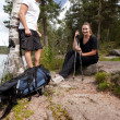 Camping Couple — Stock Photo