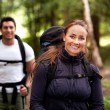 Female Camping Portrait — Stock Photo