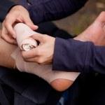 Ankle Tensor Bandage — Stock Photo #5695605