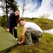 Royalty-Free Stock Photo: Camping Man and Woman