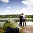 Summer Camping — Stock Photo