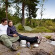 Outdoor Camping Food — Stock Photo