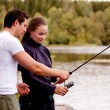 Royalty-Free Stock Photo: Teach Fishing