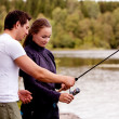 Teach Fishing — Stock Photo #5696715