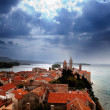 Medieval Town Dramatic Sky - Stock Photo