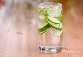 Cucumber Water — Stock Photo