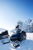 Winter Snowmobile Landscape — Stock Photo