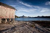 Norway Coast Boat House — Stock Photo