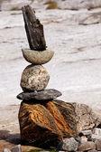 Rock Stack Sculpture — Stock Photo