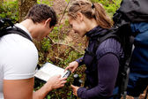 Orienteering Couple — Stock Photo