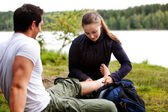 Camping First Aid — Stock Photo