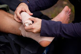 Ankle Tensor Bandage — Stock Photo